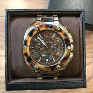Michael Kors Watch Womens - Brown Gold Tortoise